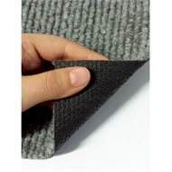 Ideal DIY 67cm Grey Oxford Ribbed Carpet Runner - Linear Metre