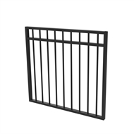 Protector Aluminium 975 x 900mm Double Top Rail All Up Garden Gate - To Suit Gudgeon Hinges - Satin Black