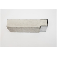 Ridgi 50mm x 50mm x 3mm 0.9m Galvanised Steel Ender Post
