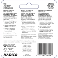 Madico 25mm Brown Square Felt Protec Surface Saver - 4 Pack