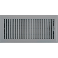 Accord 15 x 35cm Grey Metal Louvered Floor Register
