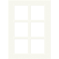 Kaboodle 400mm 6 Panel Glass Cabinet Door - Antique White