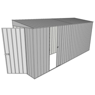 Build-A-Shed 1.2 x 4.5 x 2.0m Zinc Skillion Single Sliding Side Door Shed - Zinc