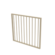 Protector Aluminium 975 x 900mm Flat Top Garden Gate - To Suit Self Closing Hinges - Paperbark