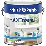 British Paints H2O 4L Gloss Mid Enamel Paint