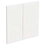 Kaboodle 600mm Gloss White Modern Rangehood Doors - 2 Pack