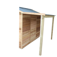 STILLA Lean-To Palmwood Shed Accessory