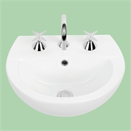 Virtue Oval Semi Recessed Vitreous China Drop In Basin