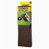 Flexovit 75 x 610mm 40 Grit Sanding Belt - 2 Pack