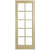 Corinthian Doors 620 x 2040 x 40mm Blonde Oak AWO 40 Clear Glass Entrance Door