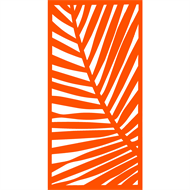 Protector Aluminium 600 x 900mm ACP Palm Decorative Unframed Panel - Orange