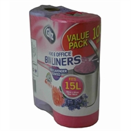 Glitz 15L Medium Scented Tie Top Kitchen Bin Liners - 100 Pack