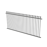 Protector Aluminium 2450 x 1200mm J Spear Top Ulti-M8 Fence Panel - Palladium Silver