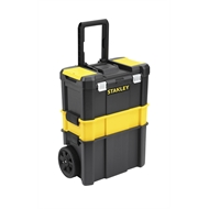 Stanley 3 in 1 Rolling Workshop Plastic Tool Box