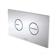 Caroma Satin Chrome Invisi II Round Dual Flush Plate and Buttons