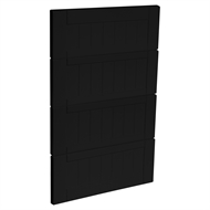 Kaboodle 450mm Black Olive Country 4 Drawer Panels
