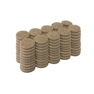 Surface Gard 19mm Round Self Adhesive Felt - 100 Pack