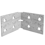 Dunnings 100 x 100 x 75mm M10 Galvanised Angle Bracket