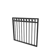 Protector Aluminium 975 x 900mm Custom Double Top Rail All Rings Gate