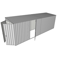 Build-a-Shed 1.5 x 6 x 2m Single Hinged Side Door Skillion Shed - Zinc