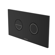 Caroma Black Invisi II Round Dual Flush Plate and Buttons