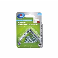 Zenith 50mm Zinc Plated Angle Brackets - 4 Pack