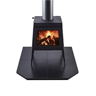 Scandia 1050 x 1200mm Black Ceramic Tile Hearth