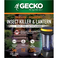 Gecko Solar And USB Rechargeable Cordless Lantern / Zapper