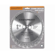 Craftright 235mm Circular Saw Blade - 3 Pack