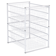 Flexi Storage White 6 Runner Kit With Baskets
