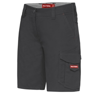 Hard Yakka Ladies Dobby Cargo Short - 14 Charcoal