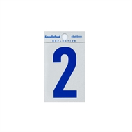Sandleford 65mm Blue Reflective Self Adhesive Numeral 2