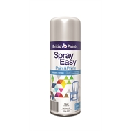 British Paints 310g Spray Easy - Metallic Bright Silver