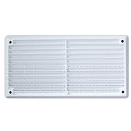 Haron 165 x 85mm White Plastic Wall And Eave Vent