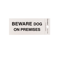 Sandleford Beware Dog On Premises Self Adhesive Sign