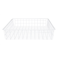 Flexi Storage 85mm White 1 Runner Wire Basket