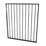 Protector Aluminium 975 x 1200mm Flat Top Ulti-M8 Pool Gate - Black