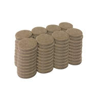 Surface Gard 25mm Round Self Adhesive Felt - 80 Pack
