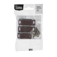 Taskmaster 46mm Magnetic Door Catch Brown - 3 Pack