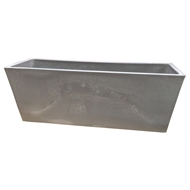 Eden 45cm Taupe Green Earth Trough Plastic Pot