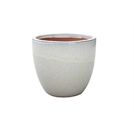 Northcote Pottery 28cm Primo Mod Egg Glazed Pot - Cream