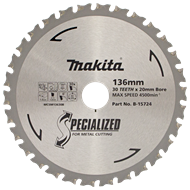 Makita Blade Circular Saw 136x20mm 30t Metal