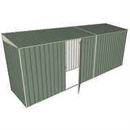 Build-A-Shed 1.2 x 5.2 x 2.0m Zinc Skillion Single Hinged Side Door Shed - Green