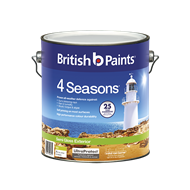 British Paints 4 Seasons 4L Semi Gloss Mid Exterior Paint