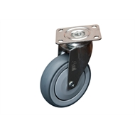 Ambassador 125mm 100kg Grey Rubber Heavy Duty Swivel Castor