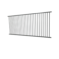Protector Aluminium 2450 x 1200mm Flat Top Ulti-M8 Fence Panel - Monument