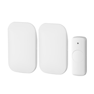 Arlec High Gloss Finish Plug-In Wireless Door Chime - Twin Pack