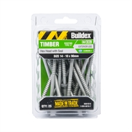 Buildex 14 - 10 x 90mm Climaseal Hex Head With Seal Timber Screws - 25 Pack
