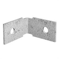 Dunnings 60 x 60 x 35mm M10 Galvanised Angle Bracket