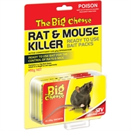 The Big Cheese Rat & Mouse Killer 4 x 25g Bait Packs